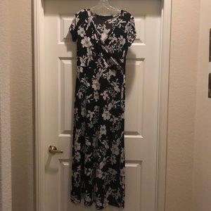 New Black floral maxi dress